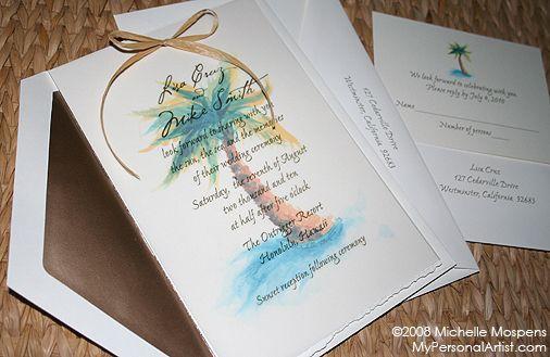 palm tree wedding invitations - Google Search | Wedding Inviations ...