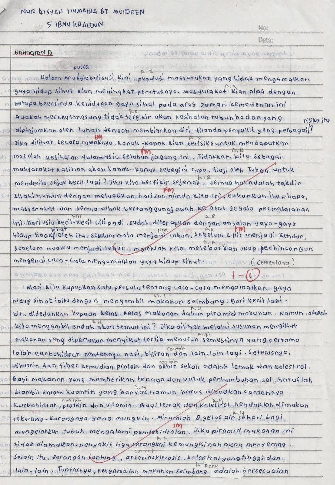 contoh essay bahasa inggeris spm terbaik