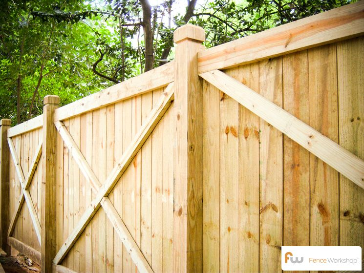 Best The College™ X Framed Wood Privacy Fence Pictures Per 400 x 300