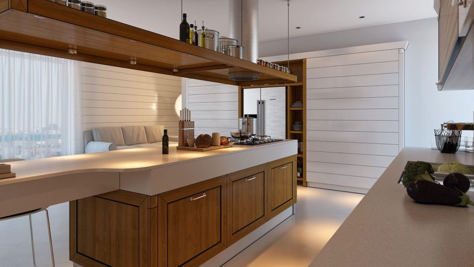 Innenarchitektur für küchenschrank  minimalistische küche design die sie von artem evstigneev