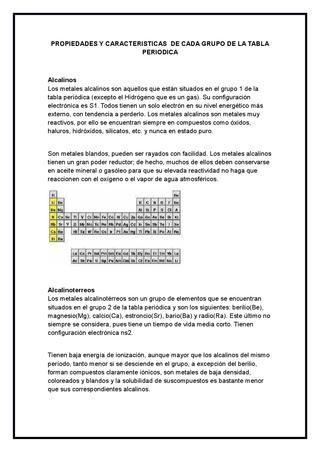 y caracteristicas de cada grupo de la tabla periodica - new ver una tabla periodica completa
