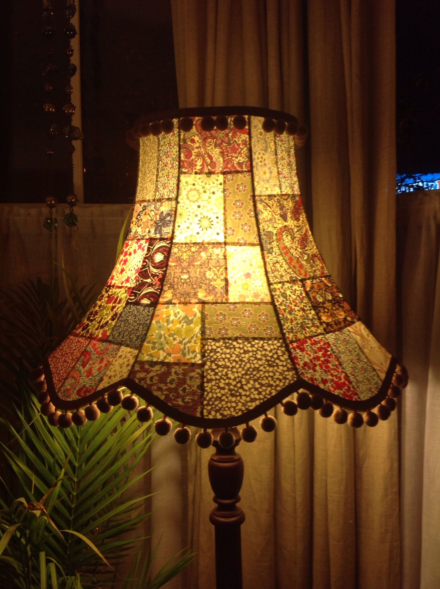 A Gorgeous Handmade Patchwork Standard Lampshade Made From