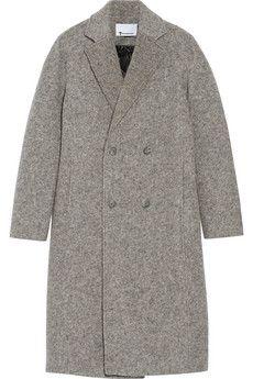 T by Alexander Wang Donegal reversible wool-blend felt coat | NET-A-PORTER