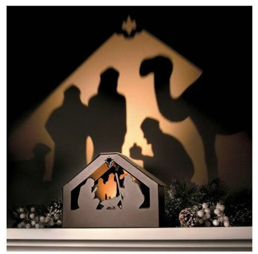 Outdoor Nativity Scenes That Light Up Unique way to display a nativity scene this shadow box lights up a unique way to display a nativity scene this shadow box lights up a wall for workwithnaturefo