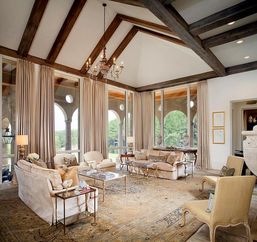 Living Room Lynnstone Estate In Jackson Mississippi Interior Designer Annelle Primos Of Architect Kevin Harris Baton Rouge Image Via Cote De