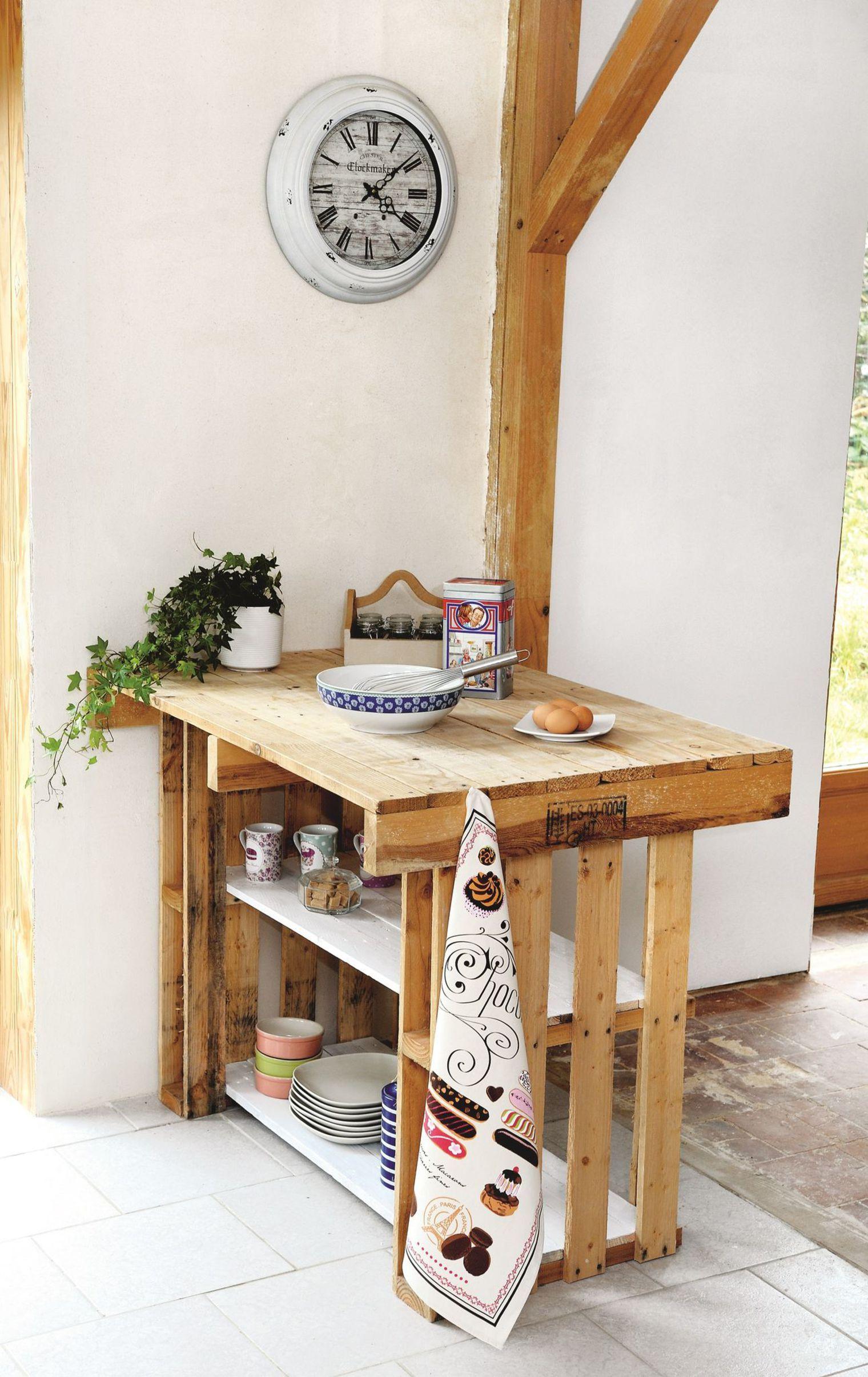 Isola cucina fai da te: riciclo creativo bancali Un mobile versatile ...