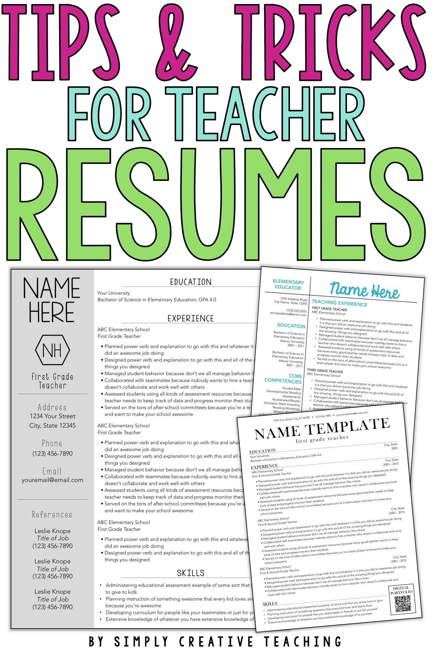 Resume Templates Editable In 2020 With Images Teacher Resume