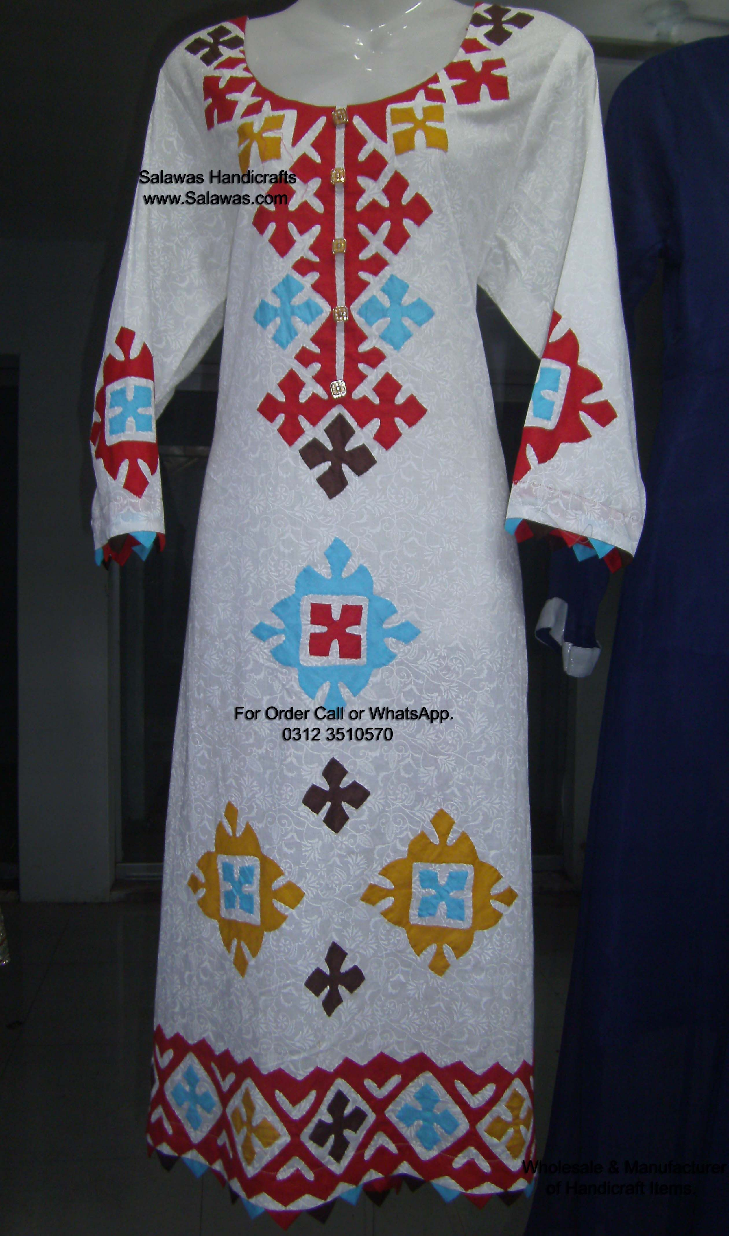 This is sindhi handmade aplic work on white dress | Aplic Work ... Homemade Dresses Designs on homemade rings designs, arts & crafts designs, homemade earrings designs, homemade shoes designs, homemade bags designs, hoodies designs, homemade beauty tips, homemade jewelry designs, homemade shirt designs, homemade bracelets designs, homemade jewellery designs,