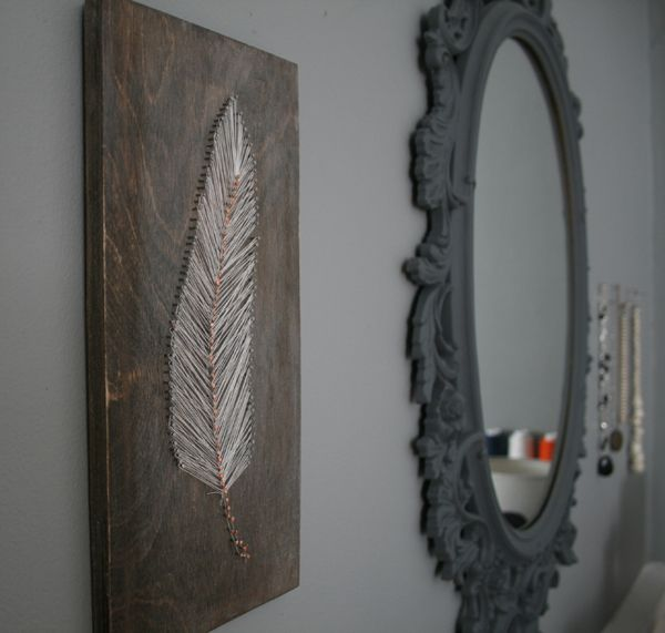 Feather string art - love!!  (I think I'm starting to have a thing for feathers now too...)