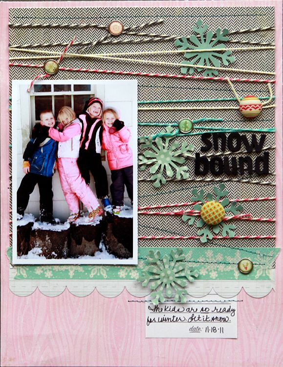 Snowbound  **Studio Calico Brooklyn Flea kit** - Scrapbook.com