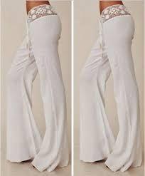 Resultado De Imagen Para Pantalones De Playa Para Mujer Lace Pants White Pants Casual Fashion