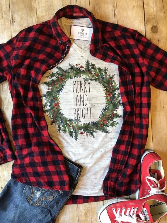 Christmas Shirt for Women Merry and Bright Shirt Christmas Shirts for Her Trendy Christmas Shirt Christmas Gift for Her Winter T shirt 3