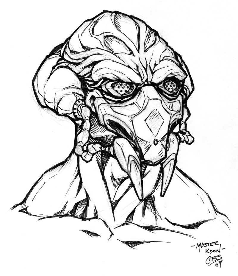 Black and white coloring pages star wars kit fisto google search