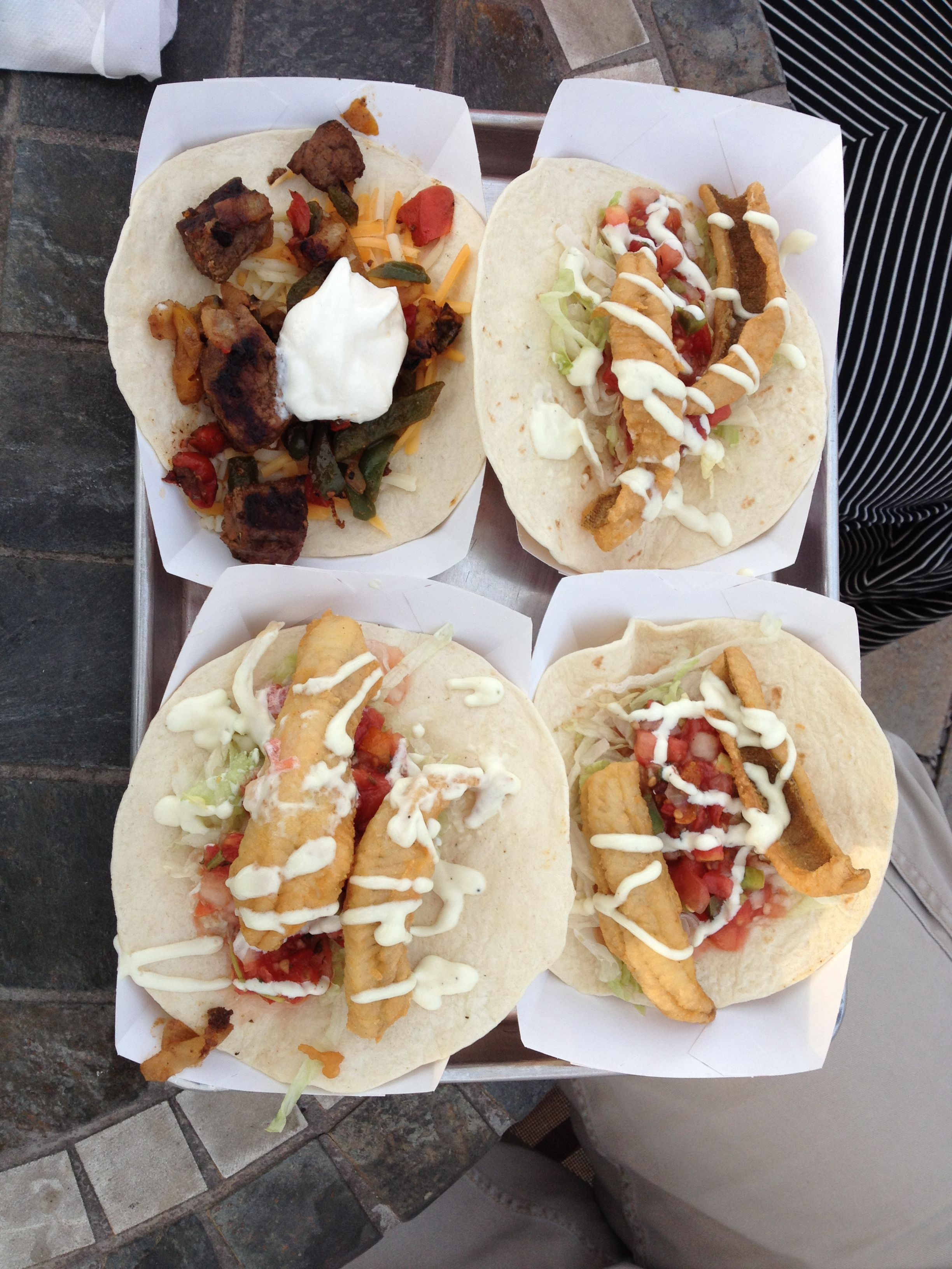 DOCKSIDE CAFE STEAK AND PERCH TACOS