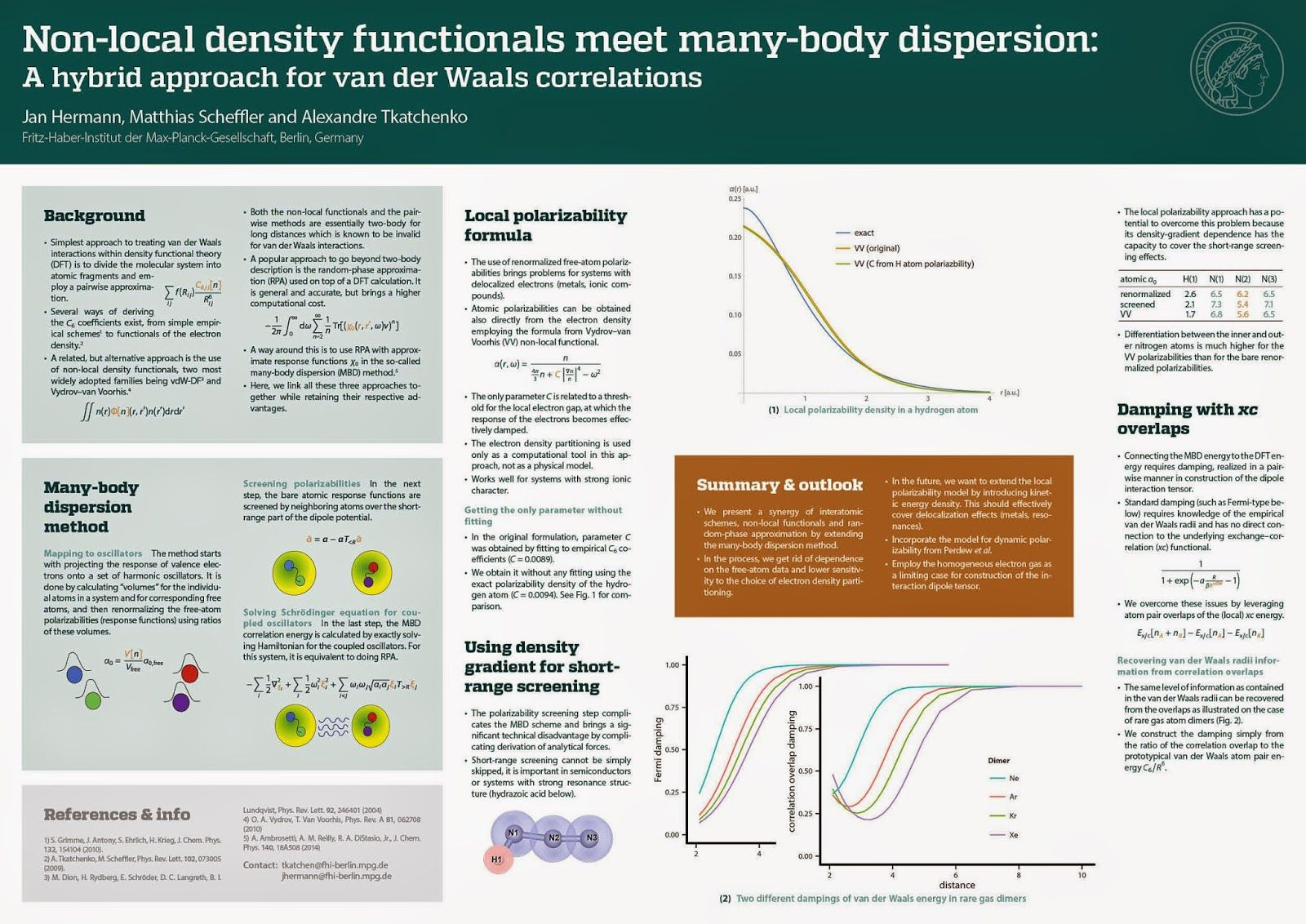 Better Posters: Critique: Many-body dispersion | Ideas for ...