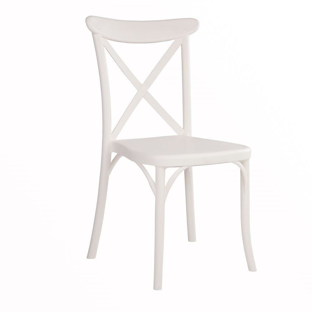 Crossback Chair Ivory White Outdoor Dining Chairs Outdoor Dining Chairs Chair Dining Chairs