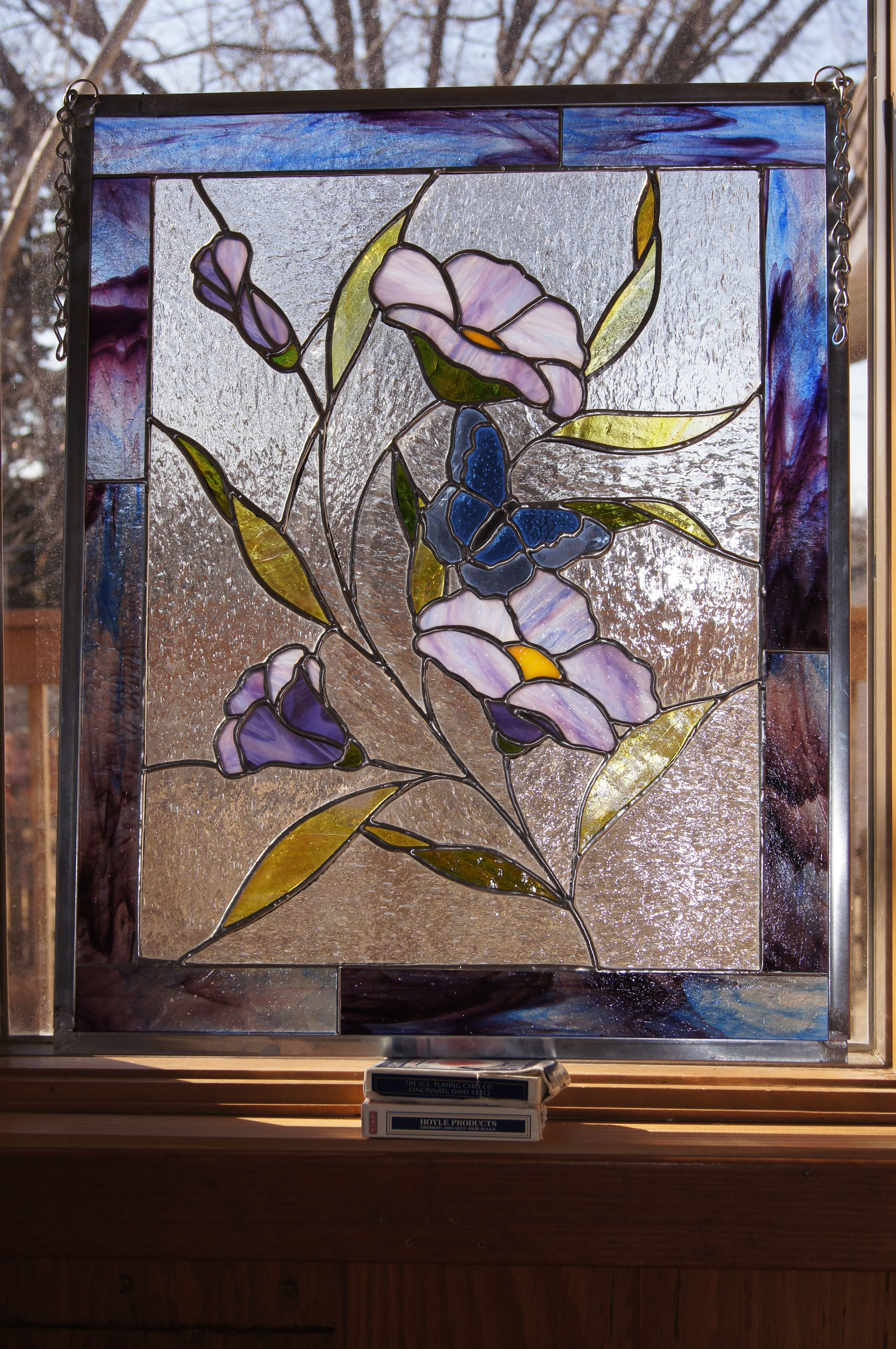 Pin By John Kaczmarek On Floral Stained Glass Stained Glass Flowers Stained Glass Stained Glass Panels
