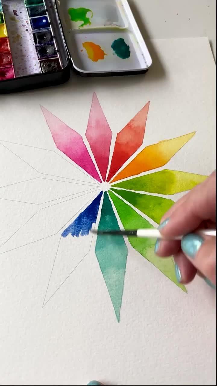 Simple Watercolor Gradient Exercise