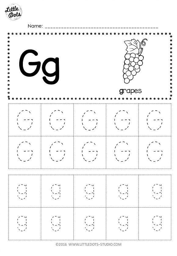 preschool letter g tracing worksheets. Black Bedroom Furniture Sets. Home Design Ideas