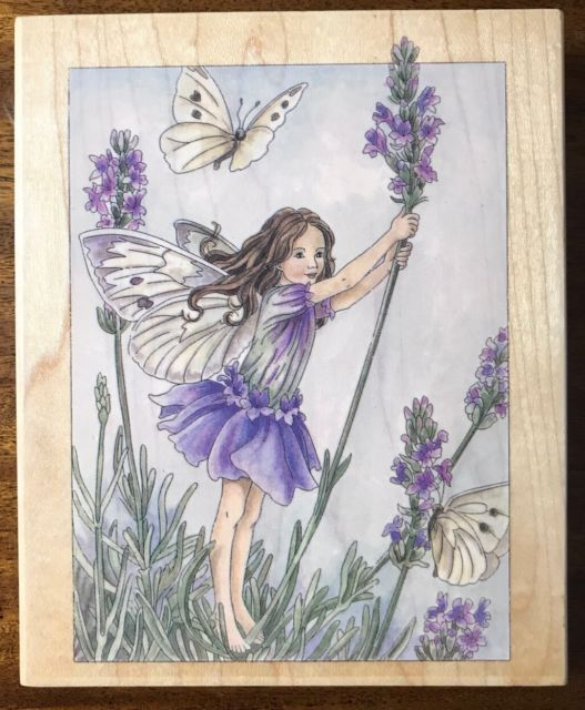 Cicely Mary Barker Lavender Flower Fairy Rubber Stamp 1998 Stamps Happen Large Ebay Flower Fairy Lavender Flowers Cicely Mary Barker
