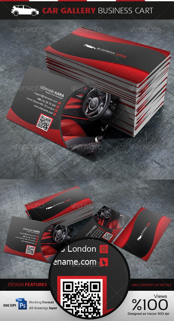 Car Gallery - Business Cardvisid | Business cards, Business and ...