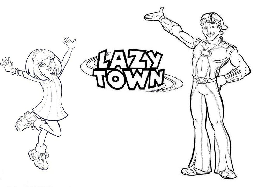 Awesome Lazy Town Coloring Sheet In 2020 Lazy Town Coloring Pages Kids Learning