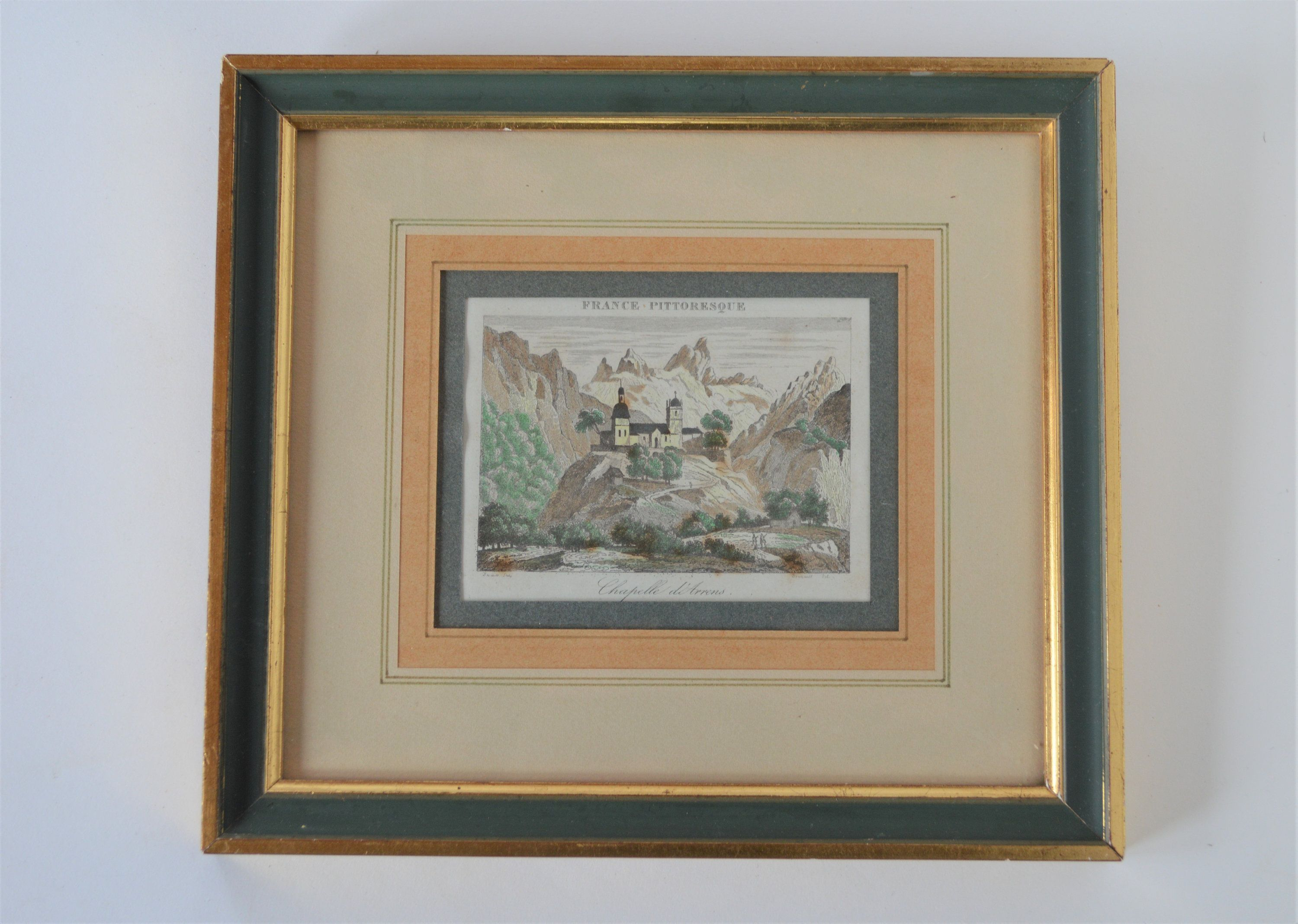 Antique Framed French Engraving Hand Coloured Print Of Etsy Antique Frames Engraving Printing Hand Coloring
