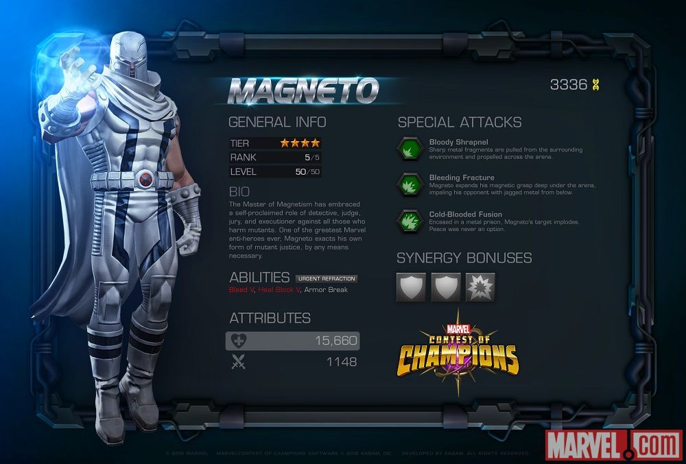 Magneto In Marvel Contest Of Champions Contest Of Champions