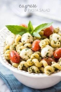 Caprese Pasta Salad- good side for BBQ