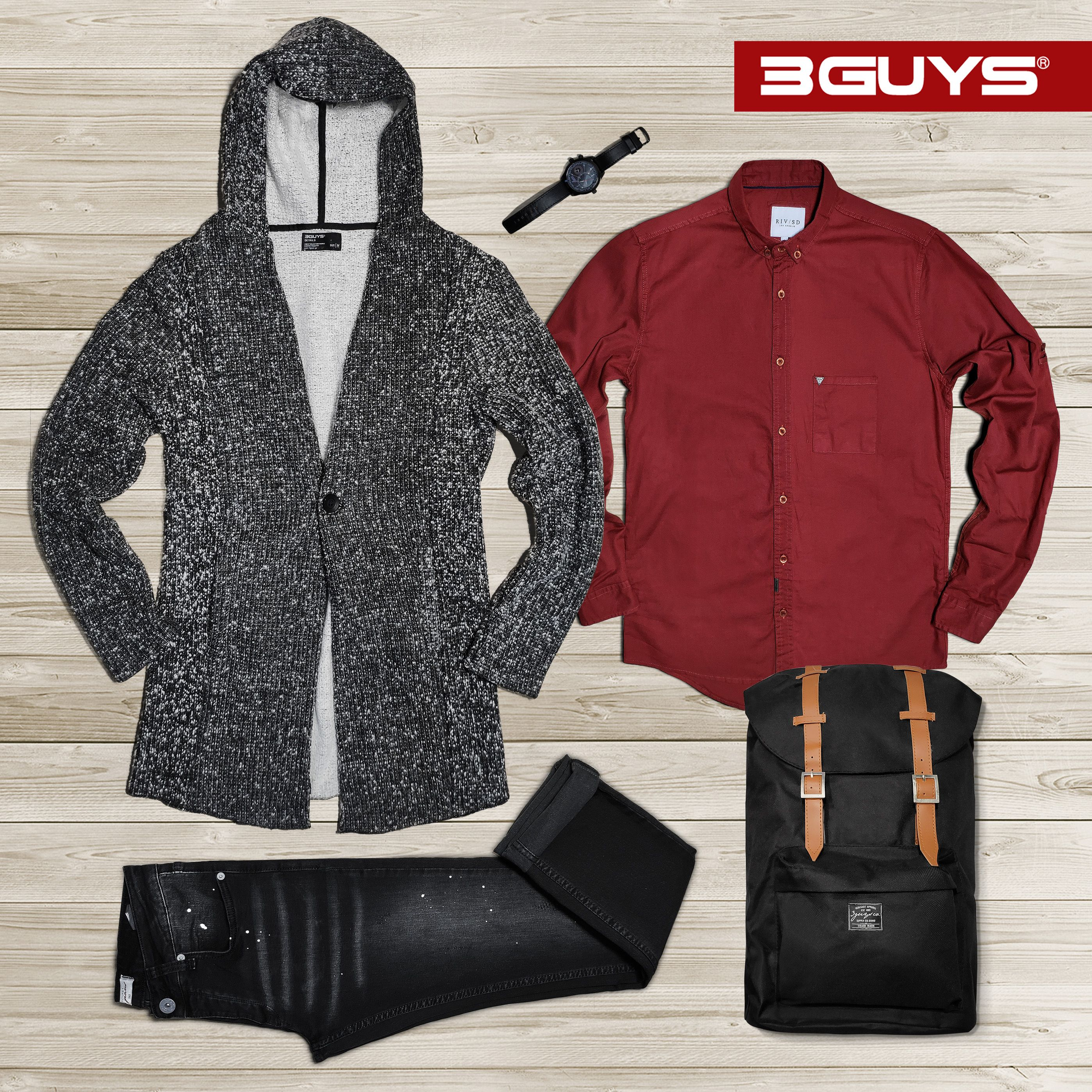 6fa610c5d7d 3GUYS | Fall/Winter 2018-19 Total Look | 3GUYS Outfits | Παλτό ...