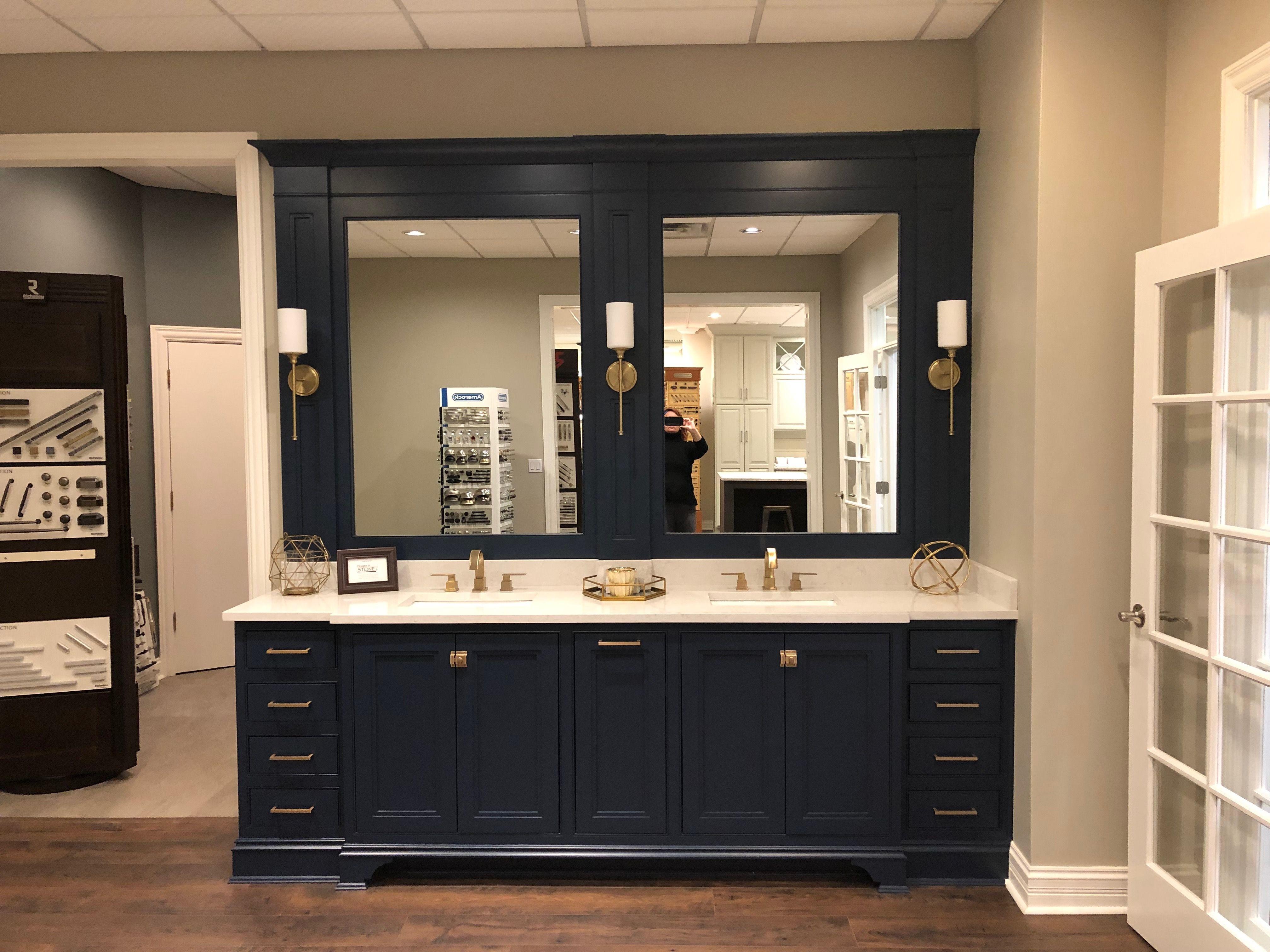 pinamy harrington on master bath  framed bathroom