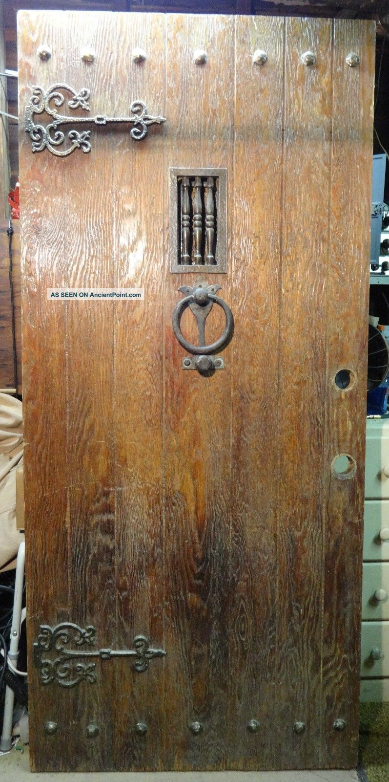 Antique 1800 u0027 S Rustic Door With Brass Hand - Forged Hardware (speakeasy Doors photo & Antique 1800 u0027 S Rustic Door With Brass Hand - Forged Hardware ...