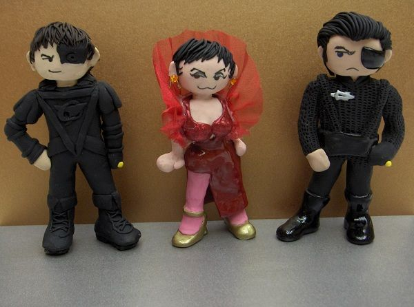 My Servalan and Travis dolls, made by Vandonovan #blakes7
