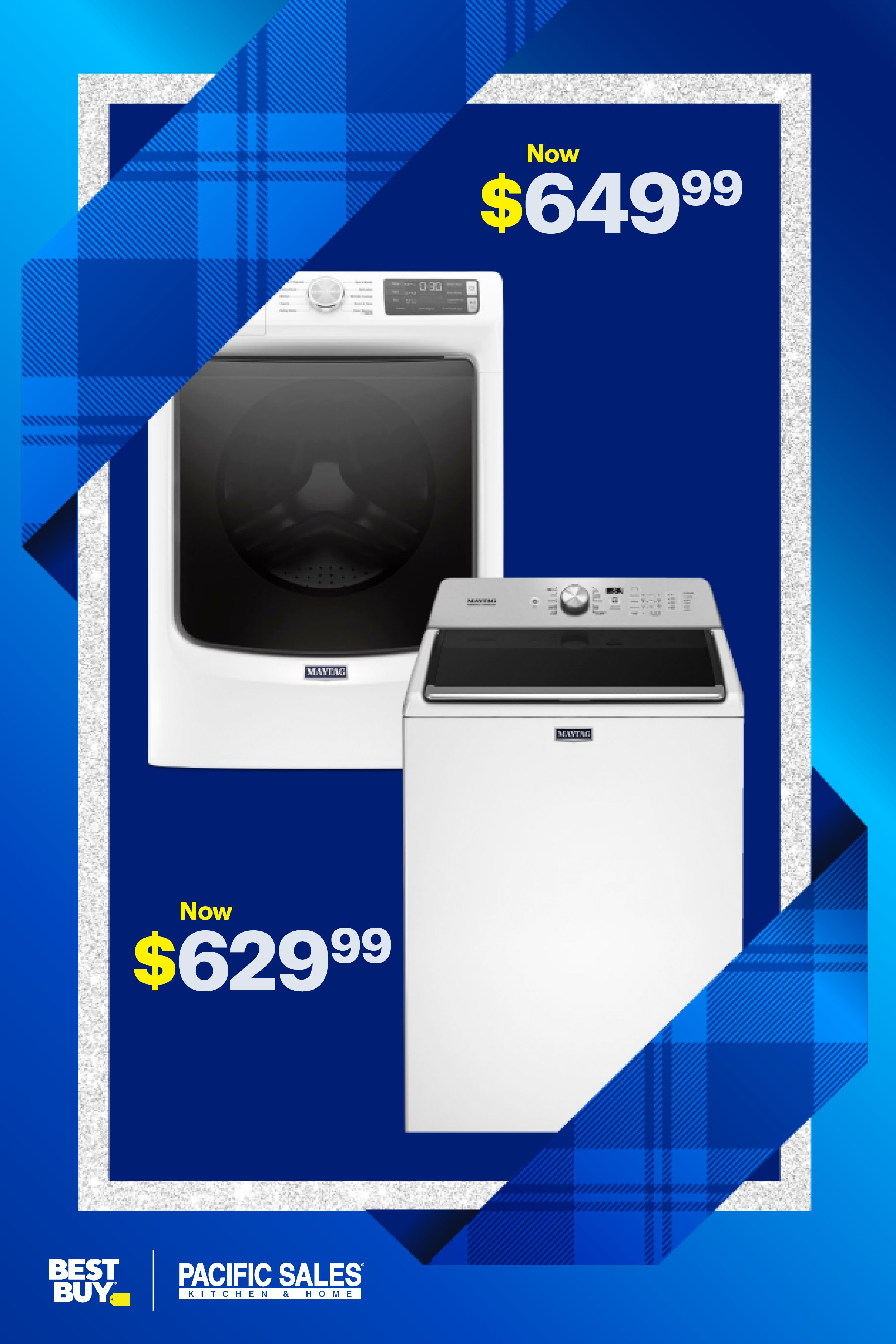Maytag washers and dryers as low as 469.99. Yep, you read