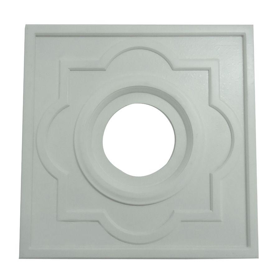 Shop Portfolio White Ceiling Medallion At Lowes Com Ceiling Fan