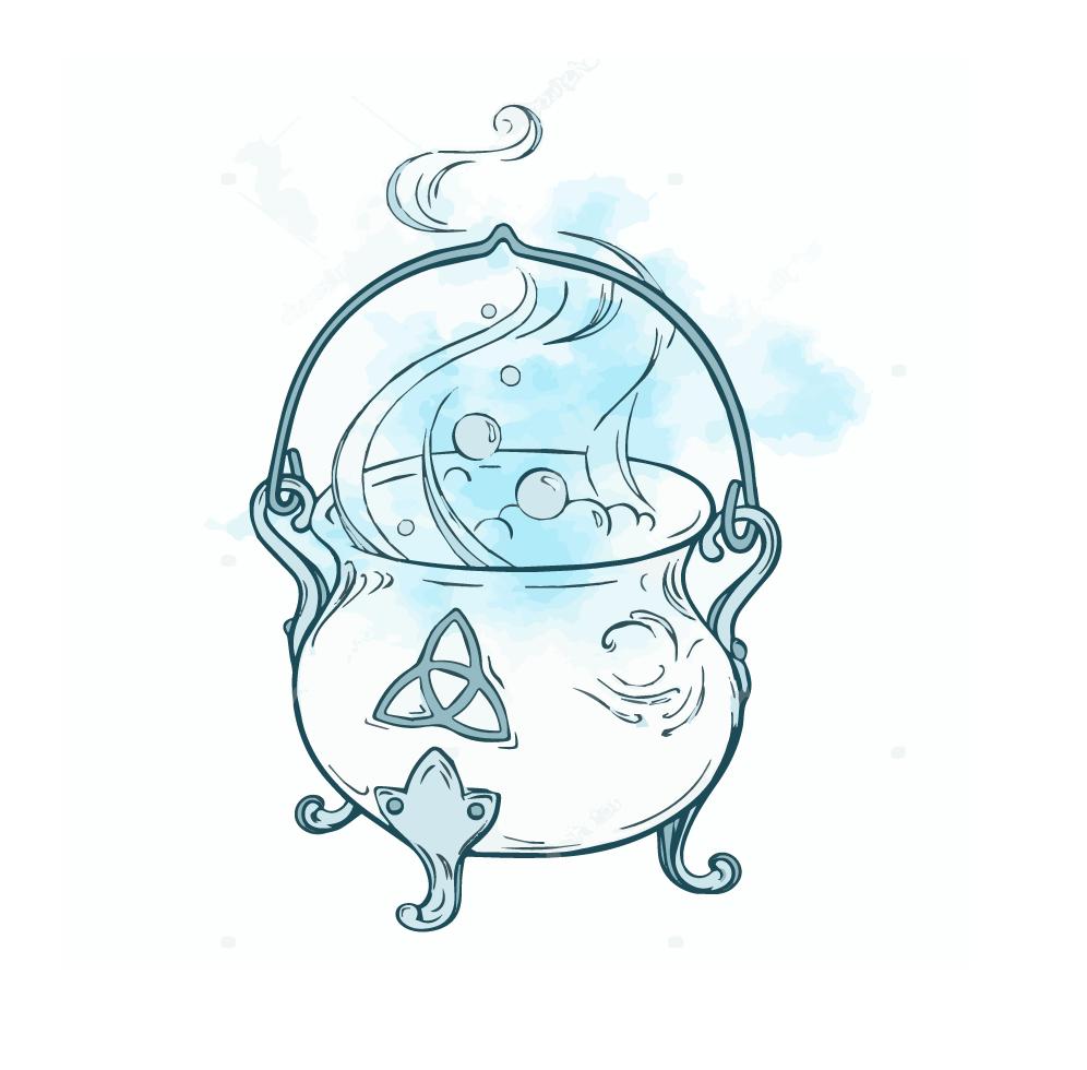 Cauldron as a Wiccan Symbol Wiccan symbols, Wiccan art