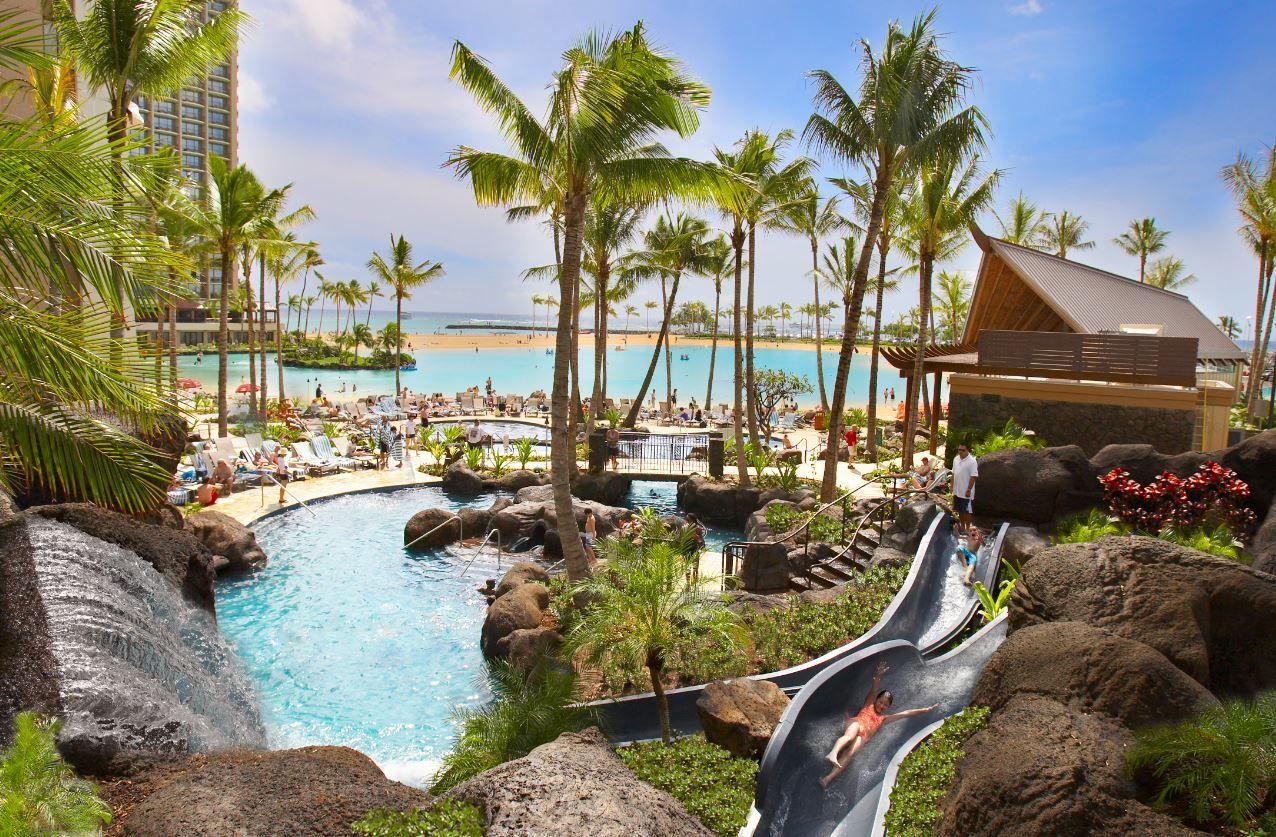 Hilton Hawaiian Village Waikiki Beach Resort Honolulu Hi Hotels Paradise Pool