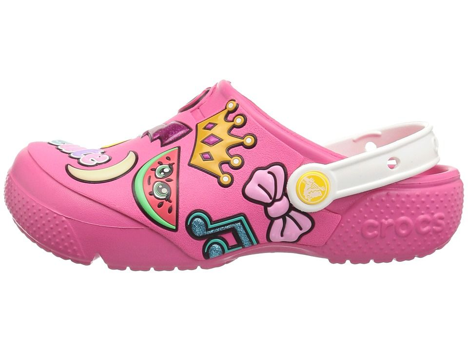 e047c8a57129 Crocs Kids Fun Lab Playful Patches Clog (Toddler Little Kid) Kids Shoes  Paradise Pink
