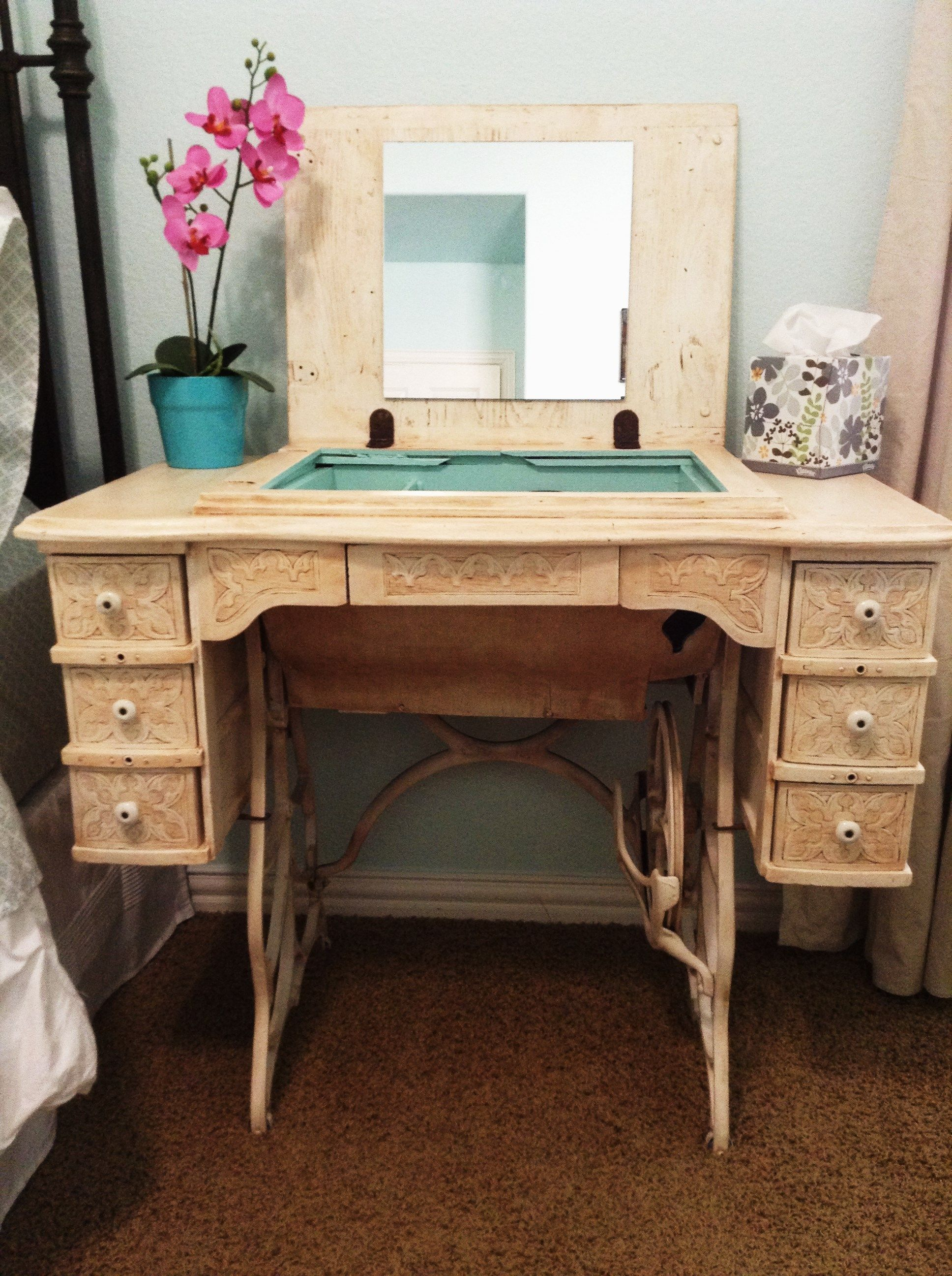 Singer Sewing Machine Repurposed Upcycled Furniture