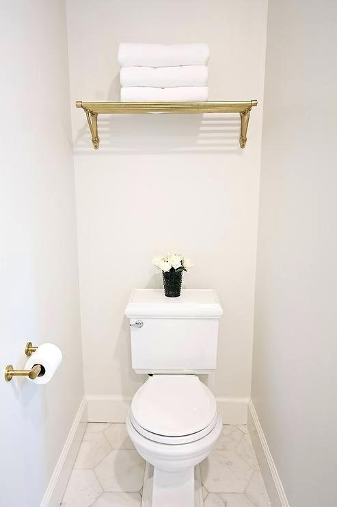 Brass Train Rack Over Toilet Towel With Images Over Toilet