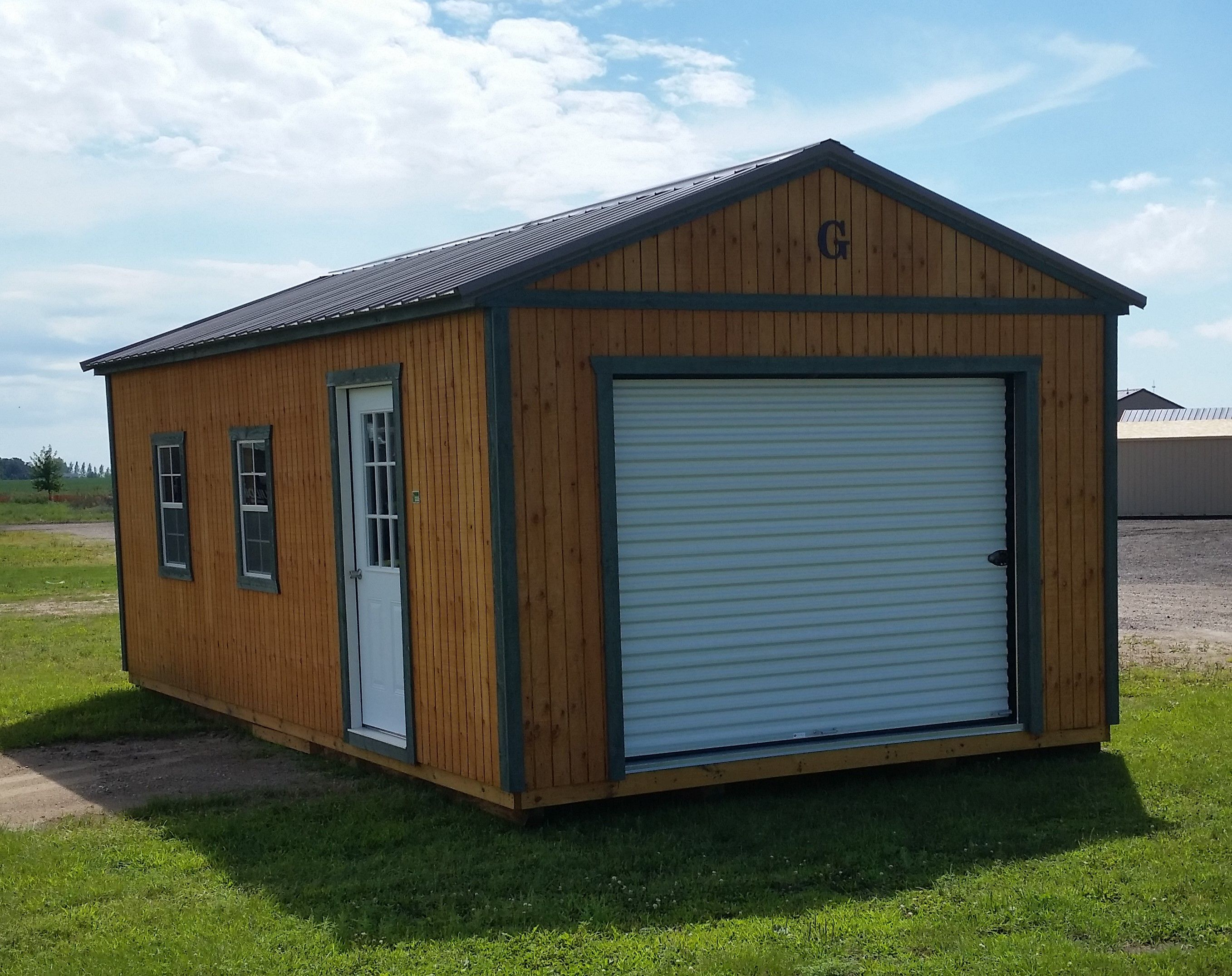 Grandview Buildings 14x24 Garage  Buckskin metal roof and