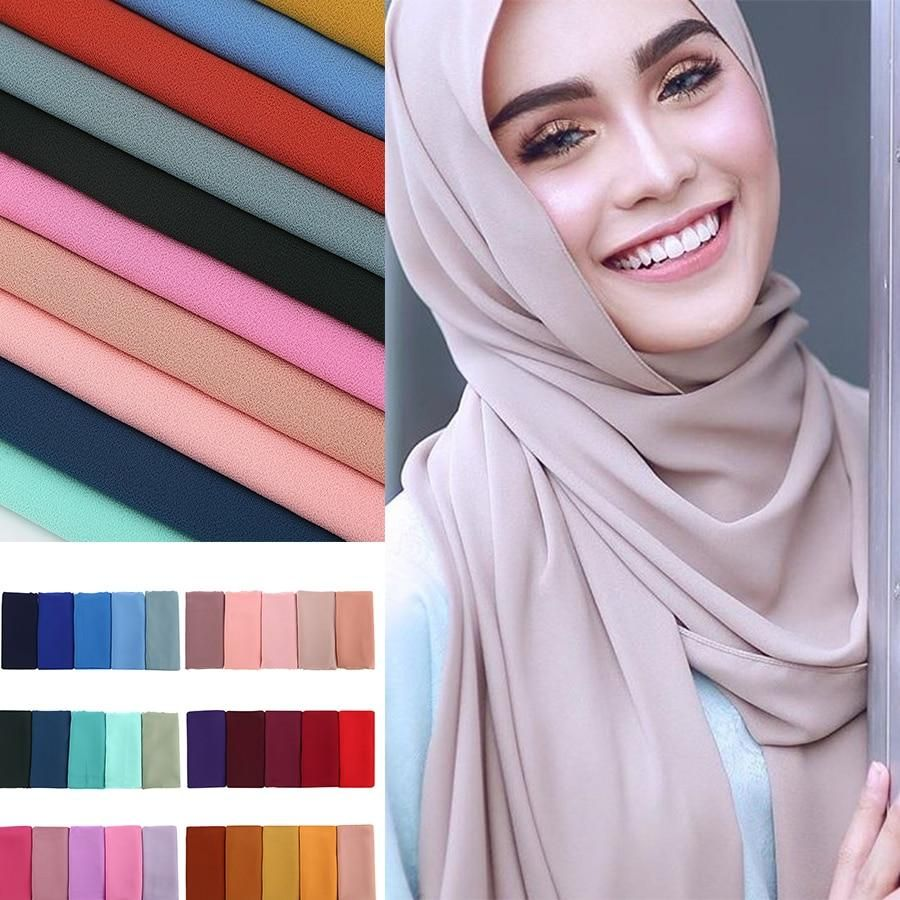 Beach Wrap Around Available In Various Colours Hijab Chiffon Scarf