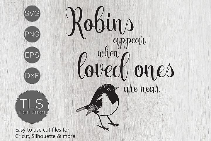 Download Robins appear when loved ones are near SVG, Robin SVG ...