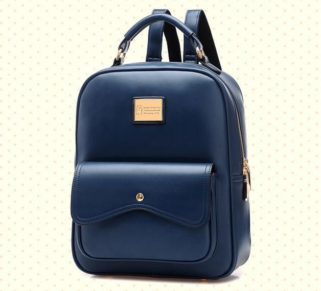 Find More Backpacks Information about Fashion Women's Daily Backpack With Zipper PU Leather Solid School Bag With Flap Pocket Useful Shoulder Bag,Drop Shipping,BBP058,High Quality bag bag,China bag womens Suppliers, Cheap bag waist from BranKid on Aliexpress.com