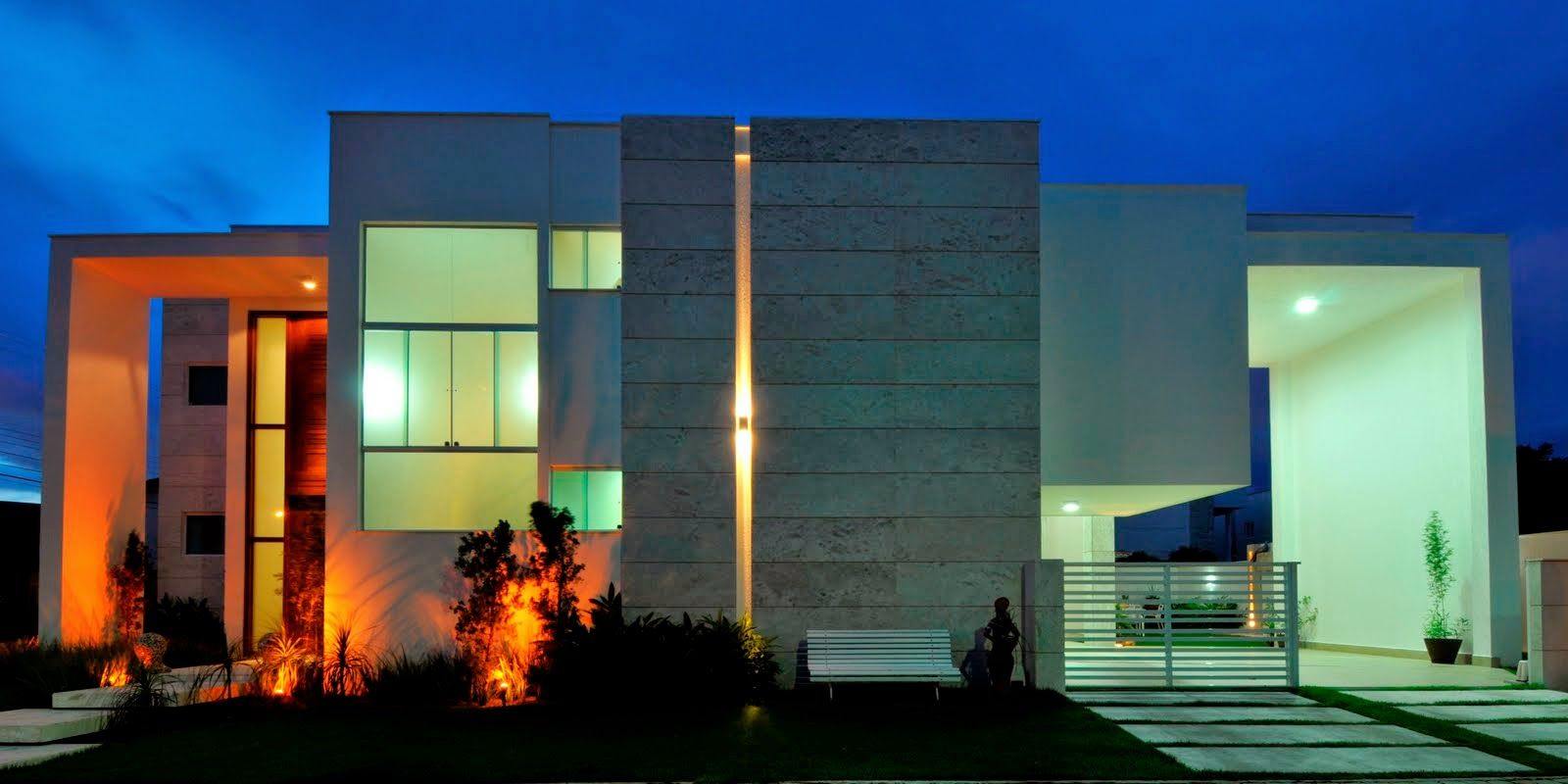 20 fachadas de casas modernas com linhas retas veja - Fachadas casas modernas ...