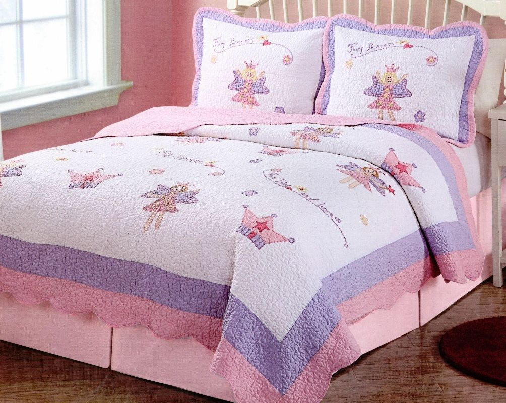 Fairy Princess Garden Quilt Set Girls bedding sets