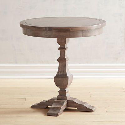 Bradding Shadow Gray Round End Table Living Room Side Table Round Side Table Living Room End Tables