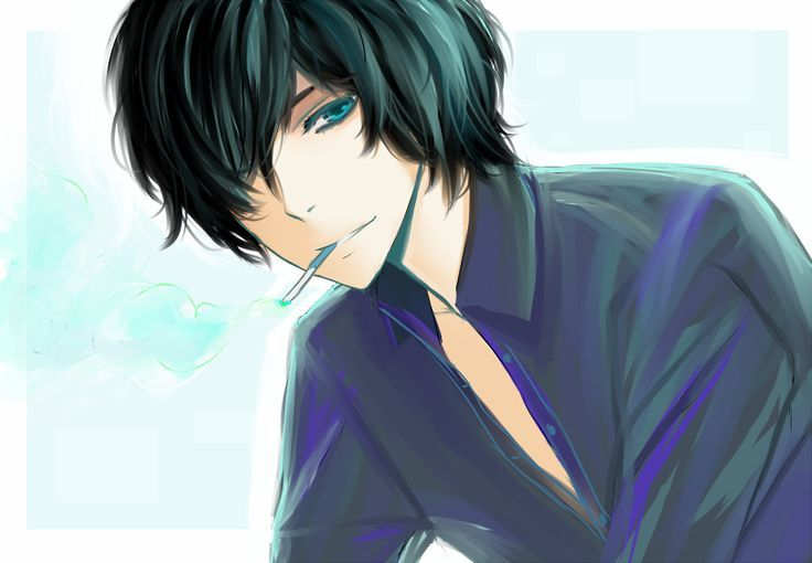 Anime Boy With Black Hair And Blue Eyes Google Search Male Boy Boys Blue Hair Black Haired Anime Boy Black Hair Boy