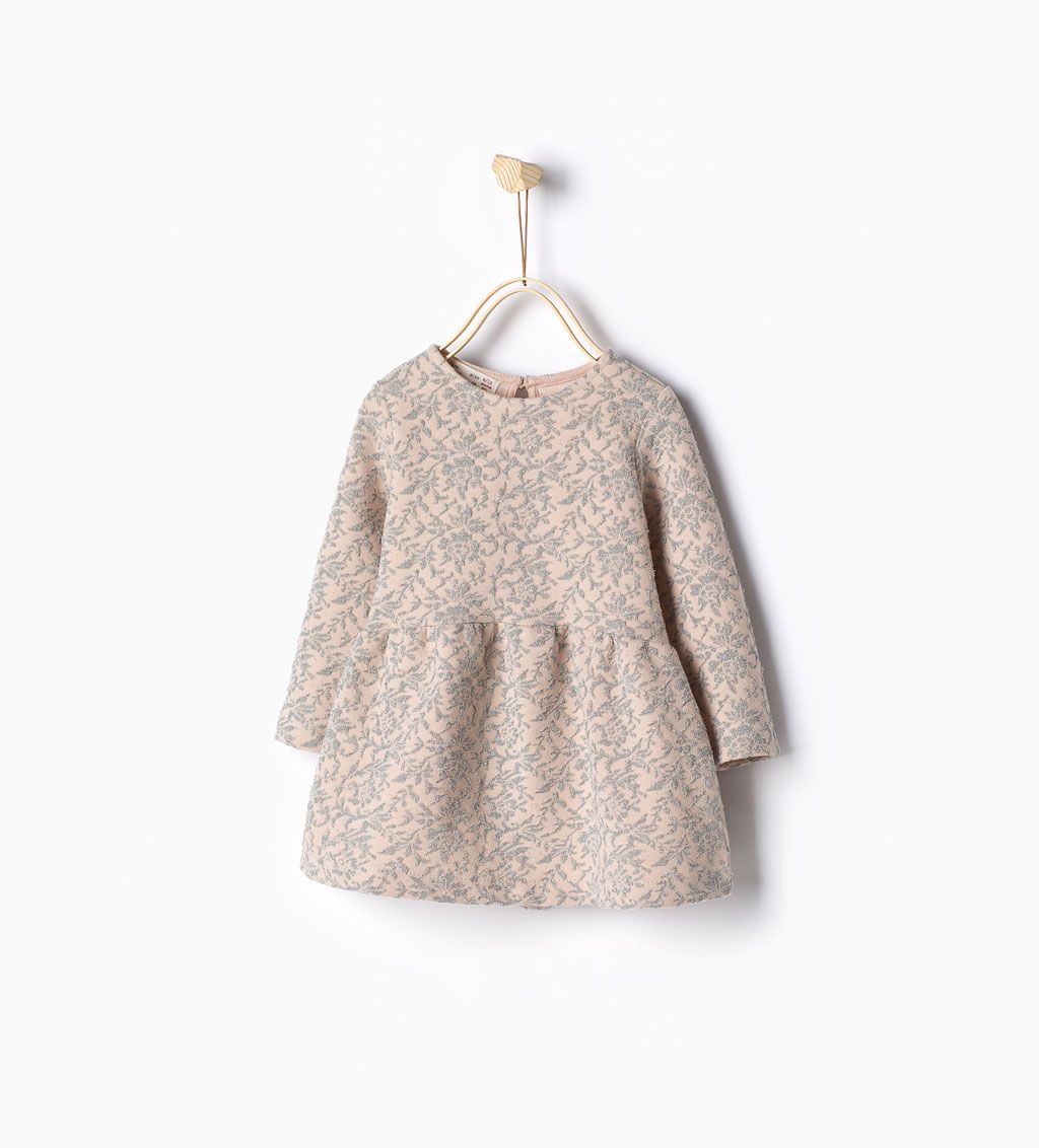 d6d6a8a4583 Image 1 of Shiny jacquard dress from Zara | Baby Fashion | Baby girl ...