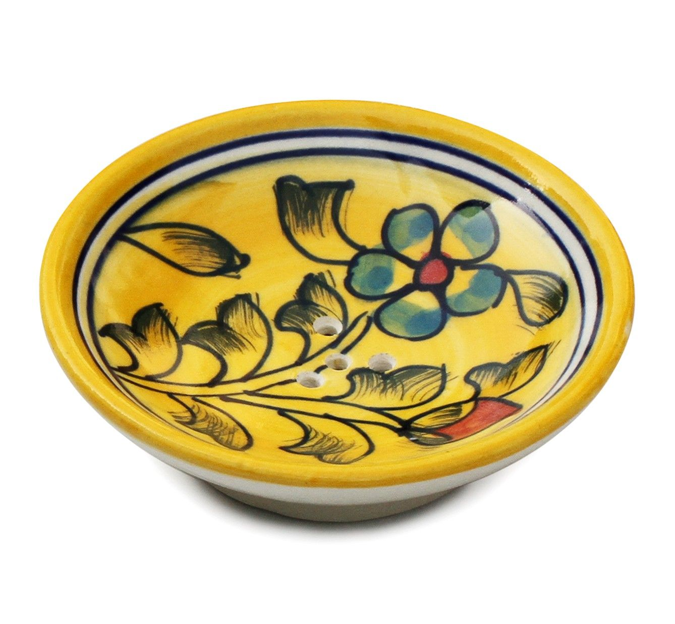 Flowery Abstractions Buy Wholesale Handmade Ceramic Soapdish With Drainage Holes In Yellow Fl Soap Dish For Shower Decorative Soap Dish Yellow Ceramics